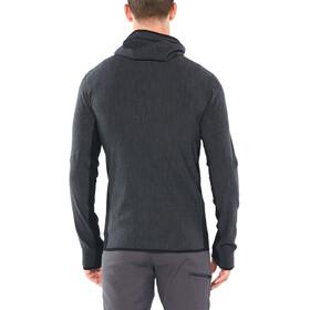 Icebreaker Descender T-shirt manches longues à capuche avec demi-zip Homme, jet heather/black